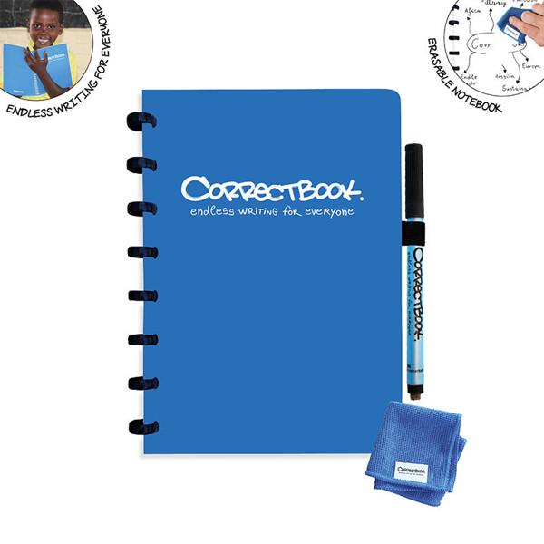 notitieboek Correctbook uitwisbaar en herbruikbaar A5 gelijnd 40blz Blue