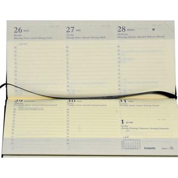 Picture of agenda Brepols 2021 Breprint  166x 81mm 7/2 Palermo dwars - zwart