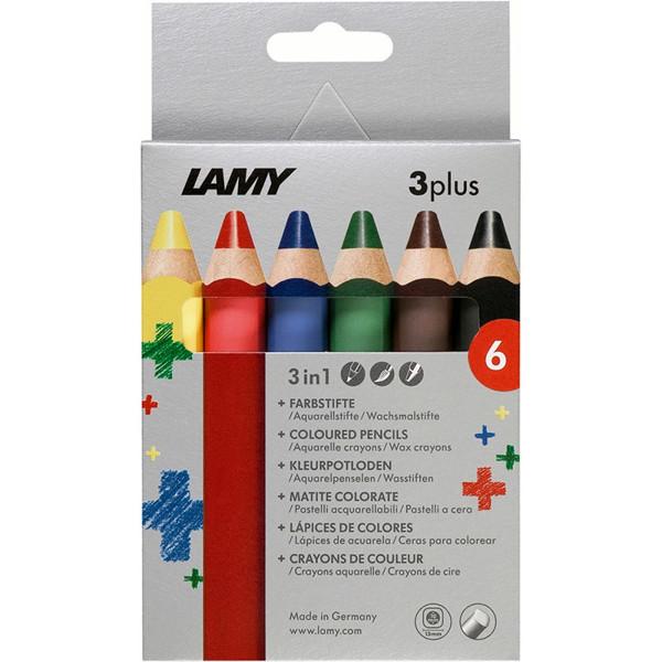 kleurpotloden Lamy 3plus 6 kleuren