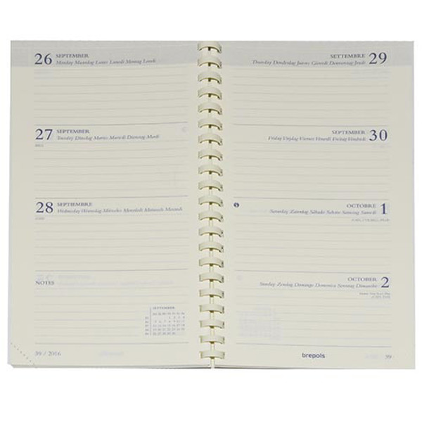 Picture of agendavulling Brepols 2021 7/2 Interplan  89x160mm spiraal 6-talig