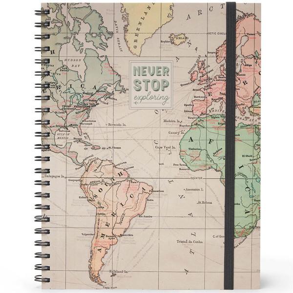 notitieboek Legami Maxi Trio spiraal 220x290mm - Travel