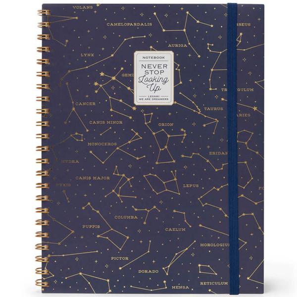 Picture of notitieboek Legami Maxi Trio spiraal 220x290mm - Stars
