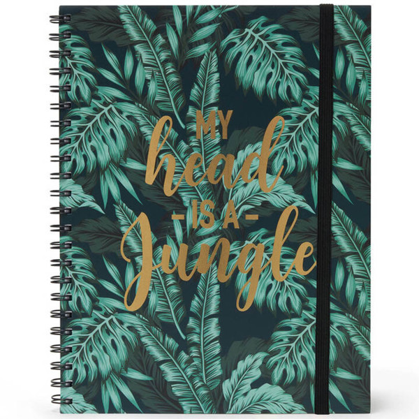Bild von notitieboek Legami Maxi Trio spiraal 220x290mm - Jungle