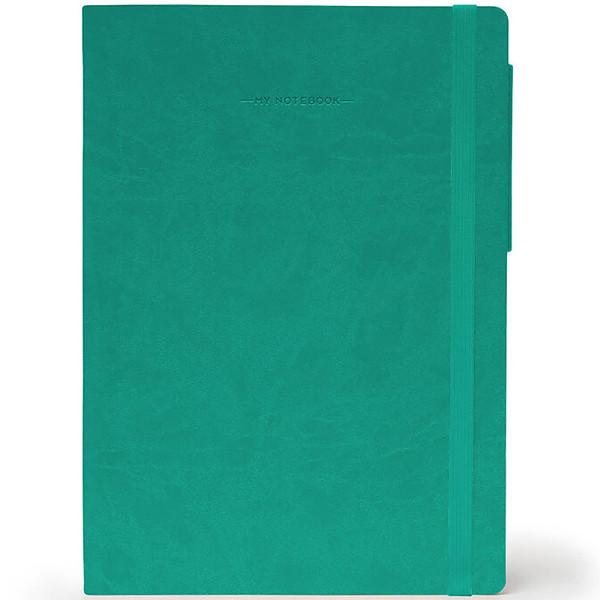 notitieboek Legami My Notebook Large 170x240mm blanco turquoise