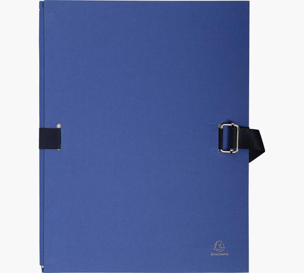 documentmap Exacompta uitrekbare rug papier - 24x32 cm - Marineblauw
