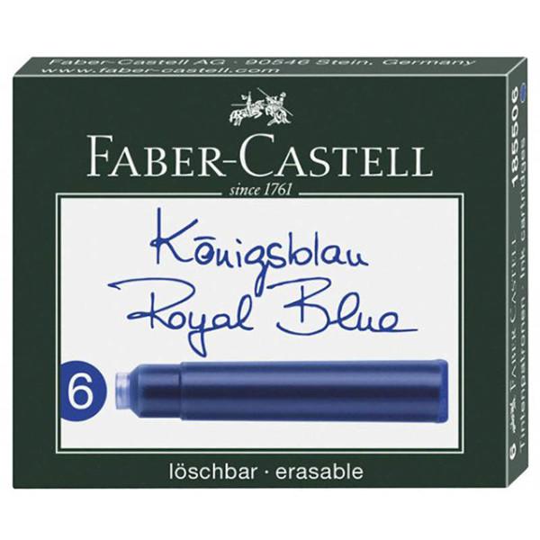 Picture of inktpatroon Faber-Castell royal blue - 6stuks