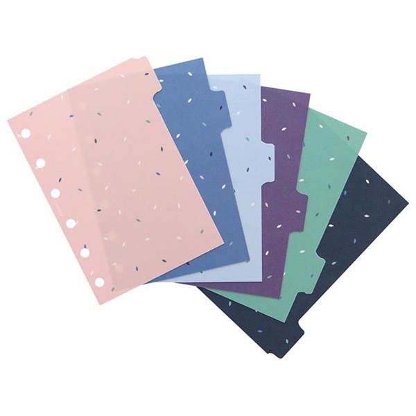 Afbeelding van Filofax Pocket index Garden 6-tabs assorti coloured
