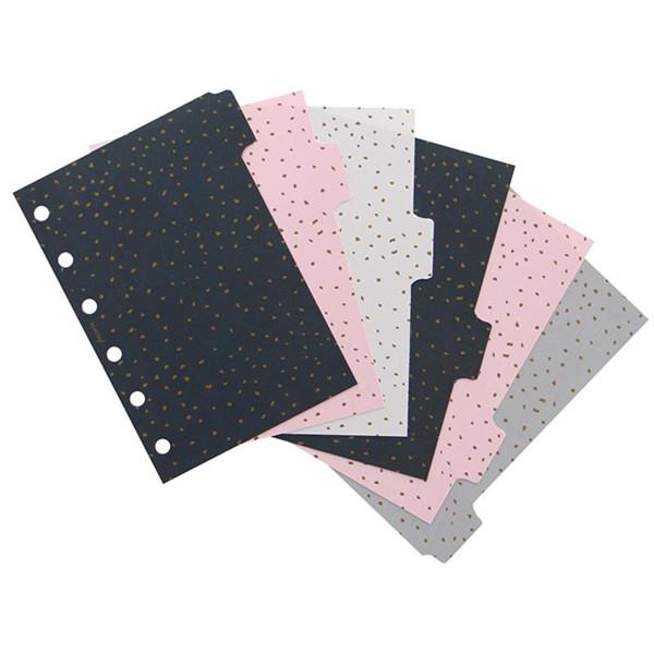 Afbeelding van Filofax Pocket index Confetti 6-tabs assorti coloured