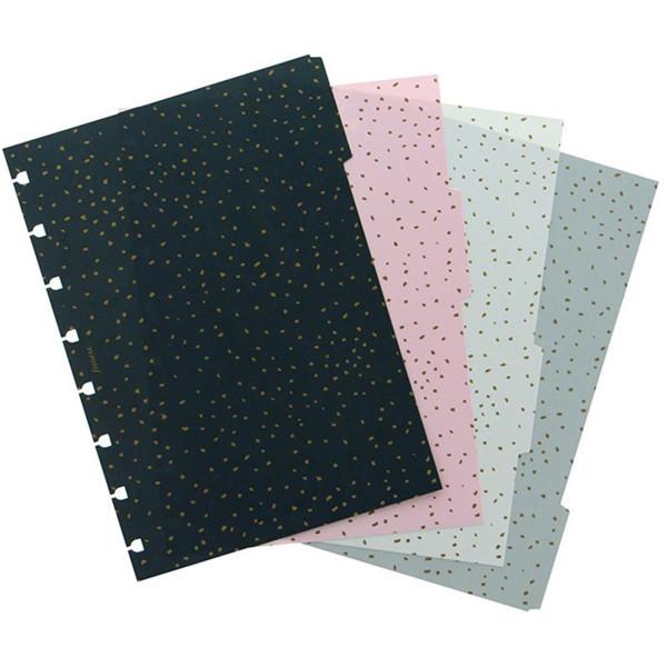 Afbeelding van notitieboek Filofax notebook A5  interieur 4-tabs Confetti assorti coloured