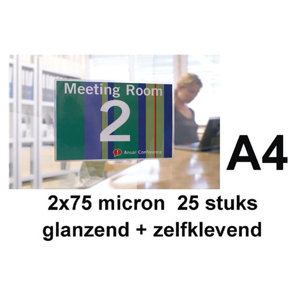 lamineerhoes GBC A4 25stuks 2x75micron glanzend - zelfklevend