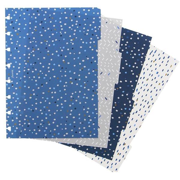 Afbeelding van notitieboek Filofax notebook A5  interieur 4-tabs Indigo assorti coloured