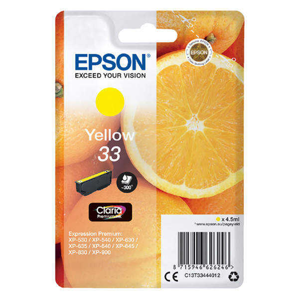 inktcartridge Epson 33 T3344 yellow