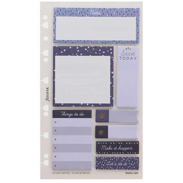 Afbeelding van filofax Personal / A5  Indigo Sticky Notes