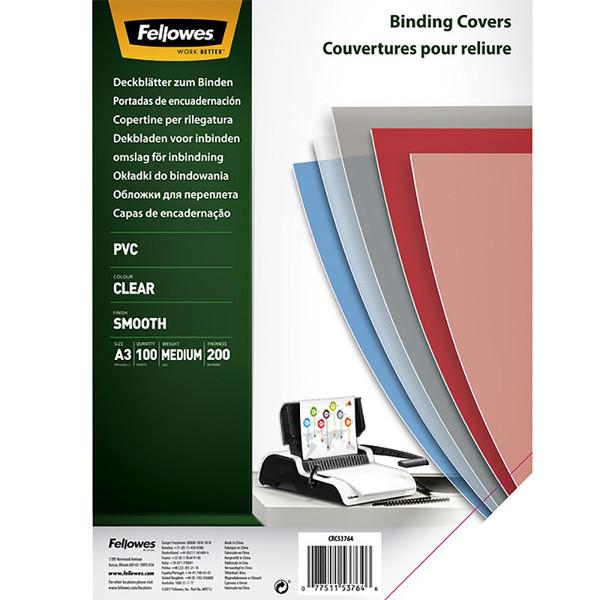 voorblad Fellowes A3 PVC 200micron 100stuks