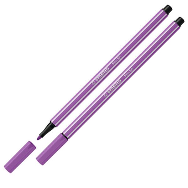 Afbeelding van viltstift Stabilo pen 68-60 1.0mm pruimen paars