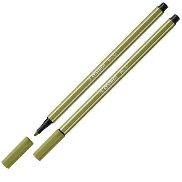 Afbeelding van viltstift Stabilo pen 68-37 1.0mm modder groen