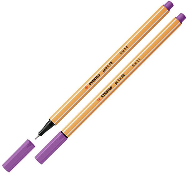 Afbeelding van fineliner Stabilo point 88-60 pruimen paars
