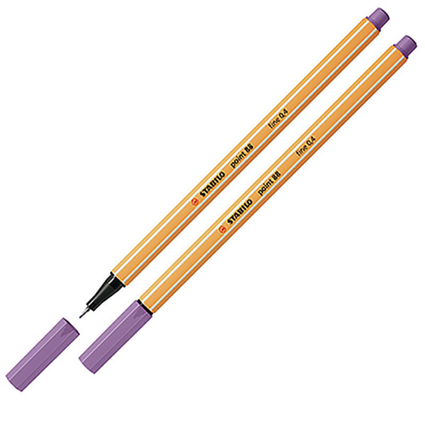 Afbeelding van fineliner Stabilo point 88-62 vergrijsd violet