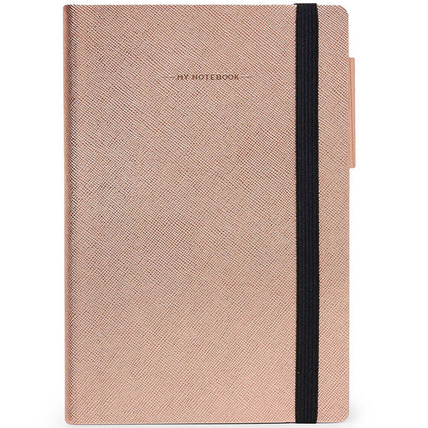 notitieboek Legami My Notebook Large 170x240mm blanco rose gold