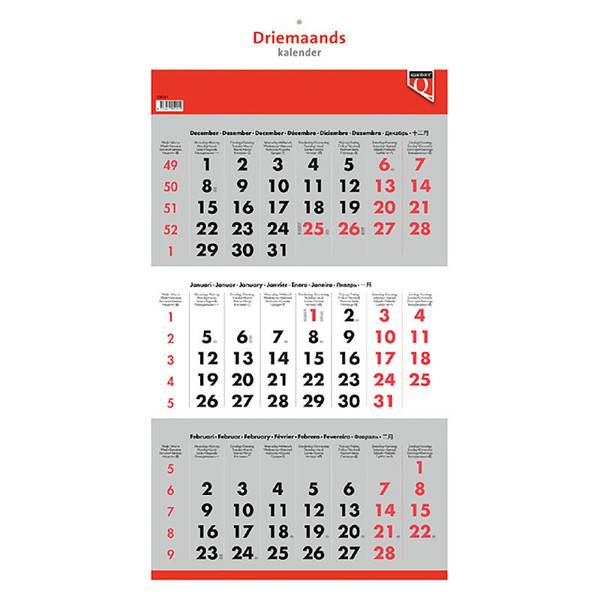 kalender Quantore - 3 maandskalender