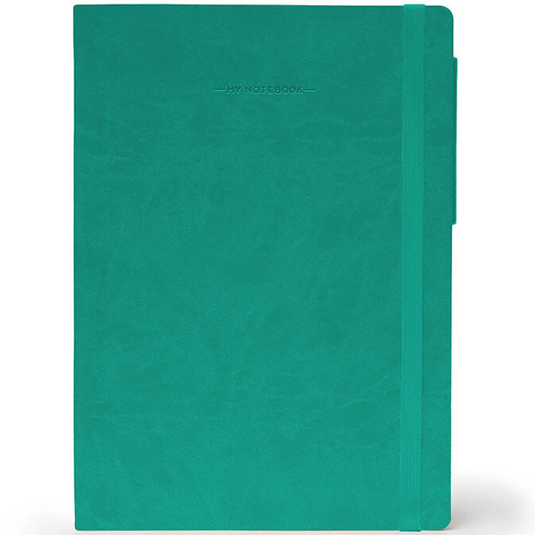 notitieboek Legami My Notebook Medium 120x180mm blanco turquoise
