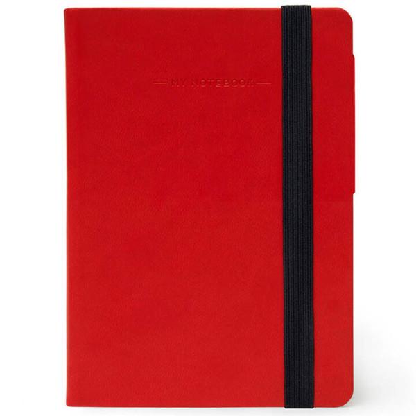 notitieboek Legami My Notebook Smal  95x135mm geruit red