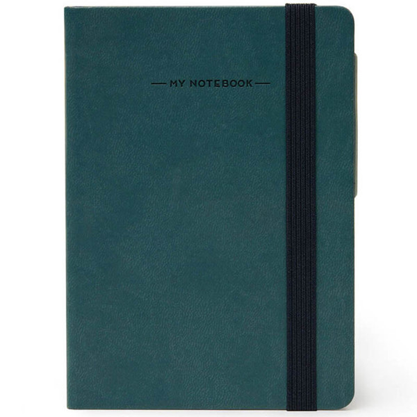 notitieboek Legami My Notebook Smal  95x135mm geruit petrol blue