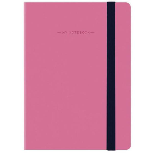 notitieboek Legami My Notebook Smal  95x135mm geruit magenta