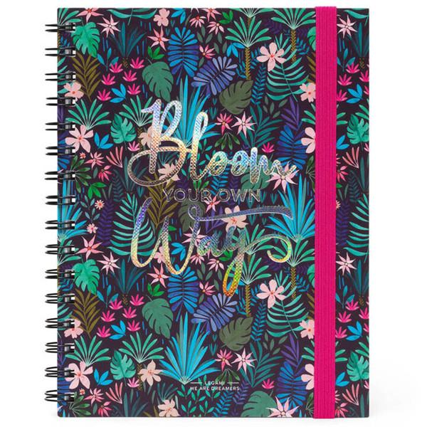 notitieboek Legami Large spiraal 160x210mm gelijnd - Flora