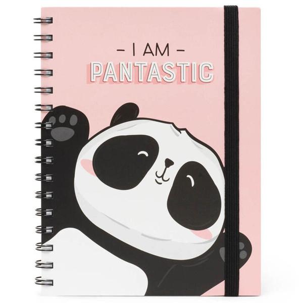 notitieboek Legami Large spiraal 160x210mm gelijnd - Pantastic Panda