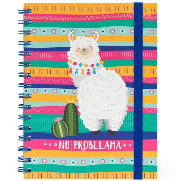notitieboek Legami Large spiraal 160x210mm gelijnd - Llama