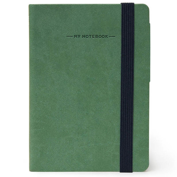 notitieboek Legami My Notebook Smal  95x135mm geruit vintage green