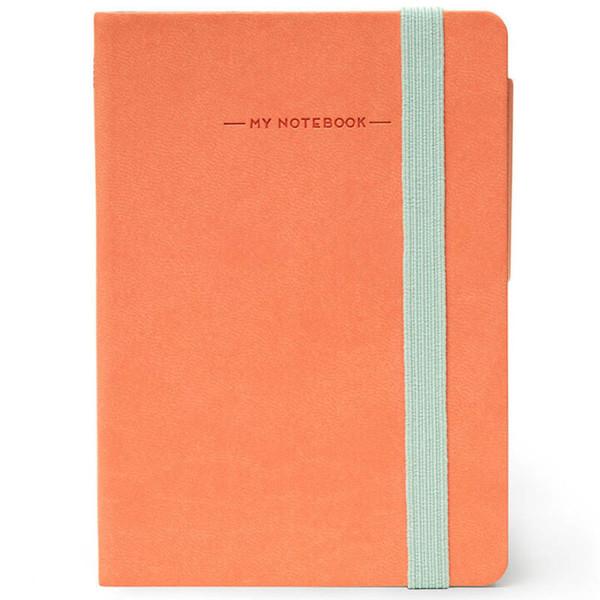 notitieboek Legami My Notebook Smal  95x135mm gelijnd salmon