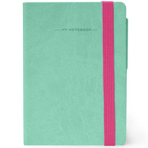 notitieboek Legami My Notebook Smal  95x135mm geruit aqua