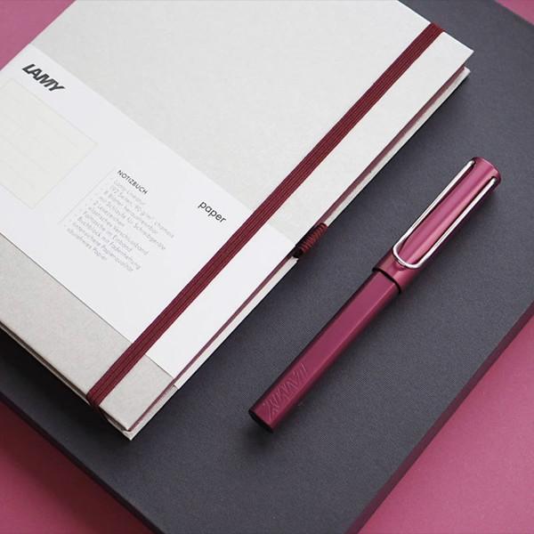 LAMY AL-star + notebook gift set - black purple