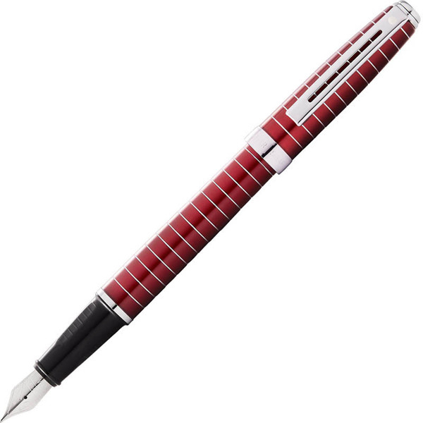 Sheaffer Prelude merlot lacquer with horizontal chrome plated engravings vulpen